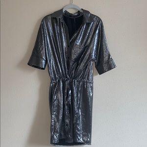 BCBG • Metallic Shirt Dress